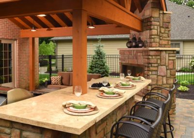 Bauman backyard Structure Outdoor Grill Fireplace Featured Projects Landscape Architecture Design The SiteGroup
