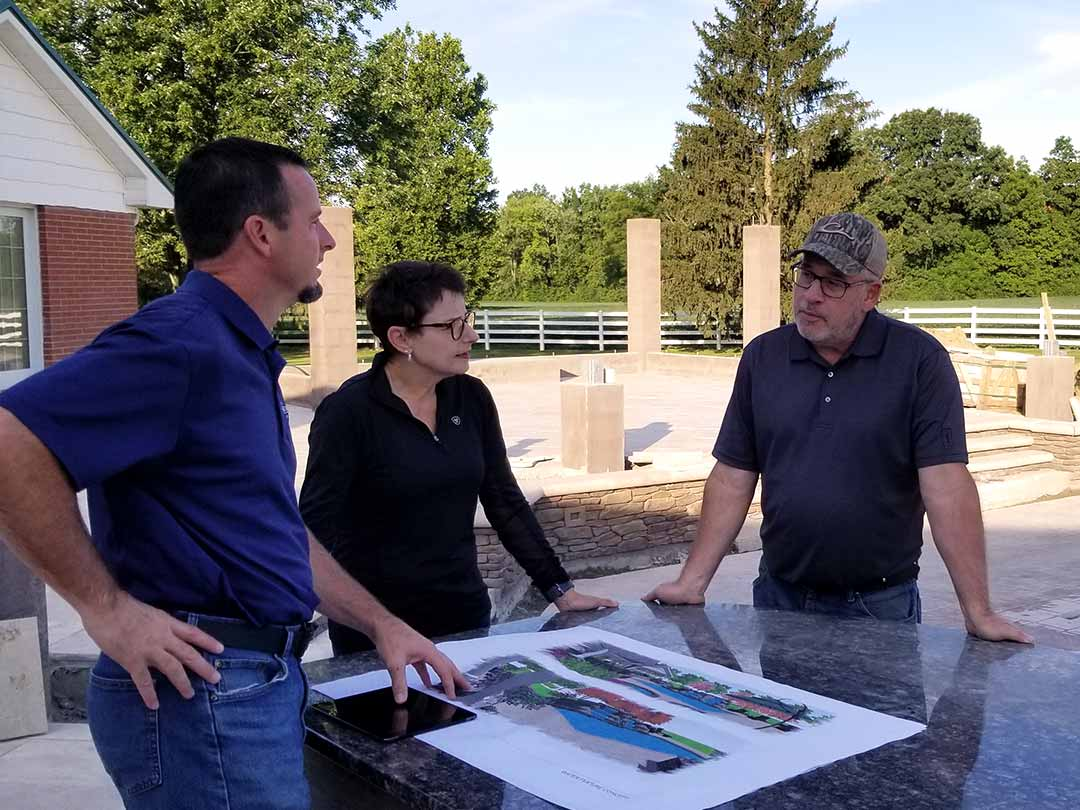 The Design Process Meet with a Designer Step Dayton Landscape Architecture SiteGroup Solutions