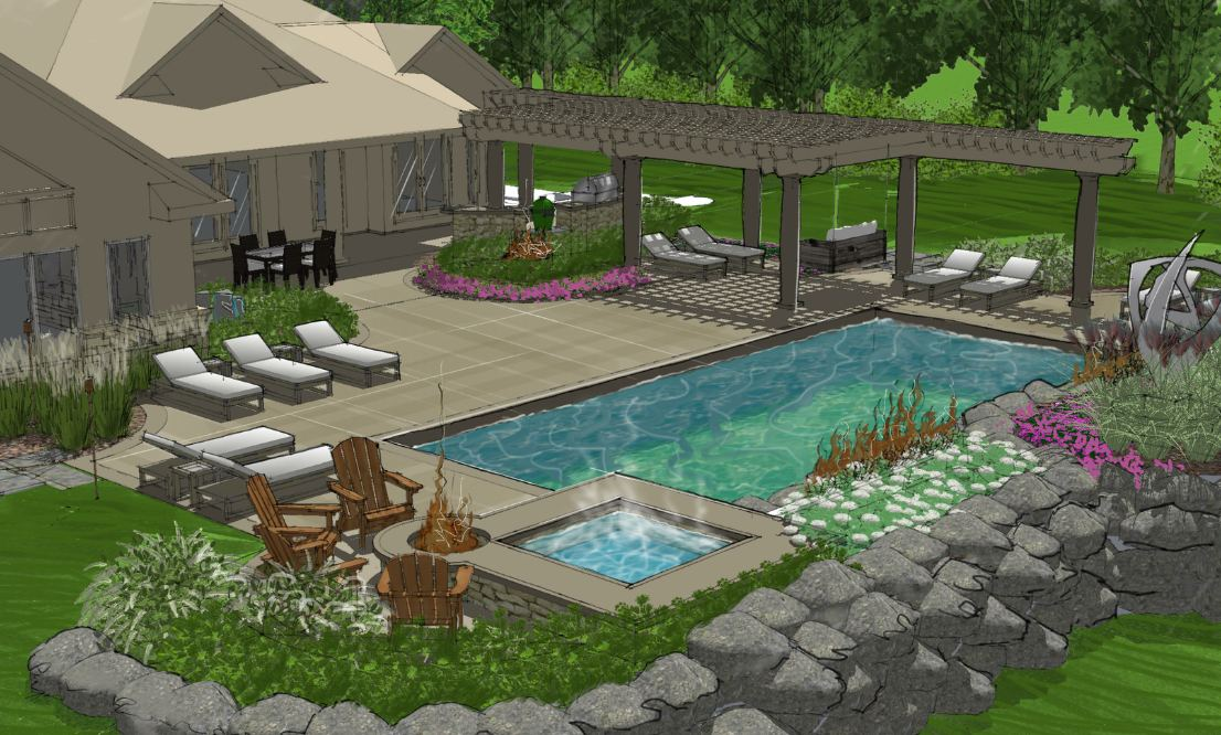 landscape design architecture the site group dayton oh solutions design process review design options